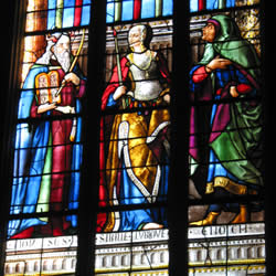 Detail of a window from Auch Cathedral